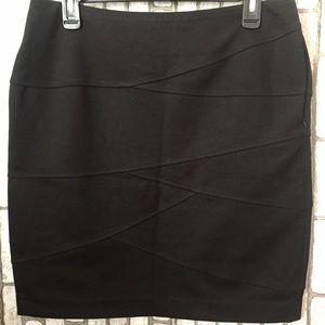 A black skirt